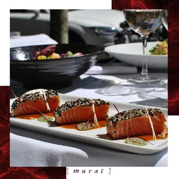 Burrata, figues fraîches, roquette et huile d'olive du Murat (75016)