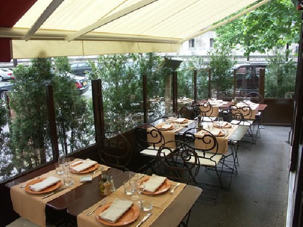 La terrasse du restaurant Pasco à Paris (7ème)